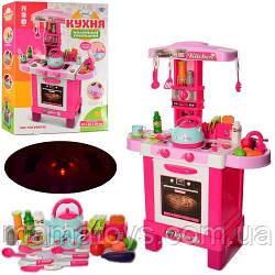 Детская игровая Кухня 008-939 с Паром малиновая Высота 87 см Свет, звук, посуда, продукты 53 предмета
