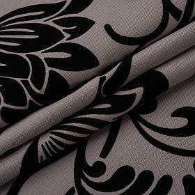 Ткань для обивки дивана с классическим узором Нэо флок цвета капучино