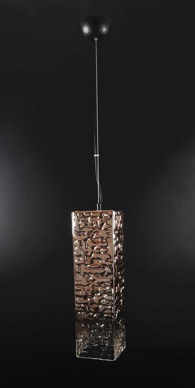 Люстра потолочная подвесная в стиле LOFT (лофт) 0122-bz-12*40 Черный 50х12х12 см.