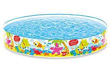 Детский каркасный наливной бассейн Snorkel Buddies Snapset Pool Intex 183х38см 977л