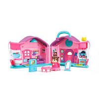 Игрушка детская музыкальная Hola Toys Кукольный домик Эммы, розовый