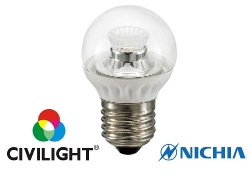 Світлодіодна лампочка CIVILIGHT G45 WP25V4 ceramic clear  3.5Вт 2700К CRI85 Е27 4224