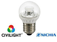 Світлодіодна лампа G45 WP25V4 ceramic clear, 3,5 Вт 250 лм 2700К Е27