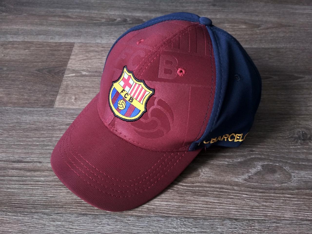Футбольная Бейсболка / кепка Барселона / Barcelona бордовая 19-20