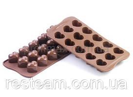 """SCG01 Форма силіконова для шоколаду """"сердечко"""" 30х22х25 мм"""