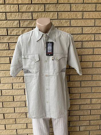 Рубашка мужская летняя льняная  высокого качества , есть большие размеры RECOBA, Турция, фото 2
