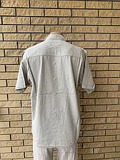 Рубашка мужская летняя льняная  высокого качества , есть большие размеры RECOBA, Турция, фото 3