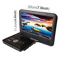 Портативный телевизор ТВ DVD-плеер 9-дюймовый TFT ЖК-экран цифровой мультимедийный