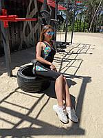 Майка-топ женский спортивный с яркими вставками 42-48 р