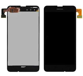 Дисплей (экран) для Microsoft (Nokia) 630 Lumia (RM-978) с сенсором (тачскрином) черный Оригинал