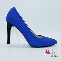 Туфли синие на шпильке