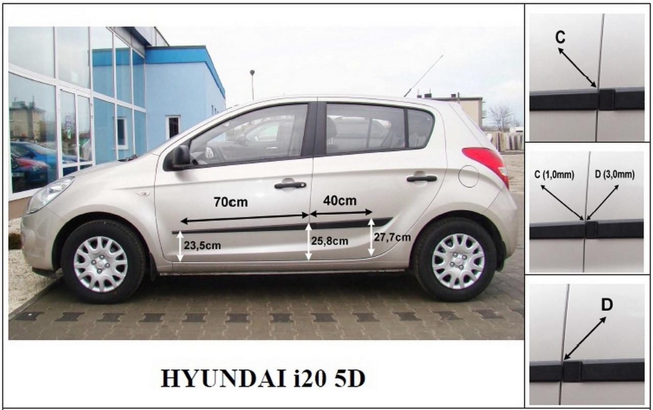 Молдинги на двері для Hyundai i20 Mk1 5Dr 2008-2014, фото 7