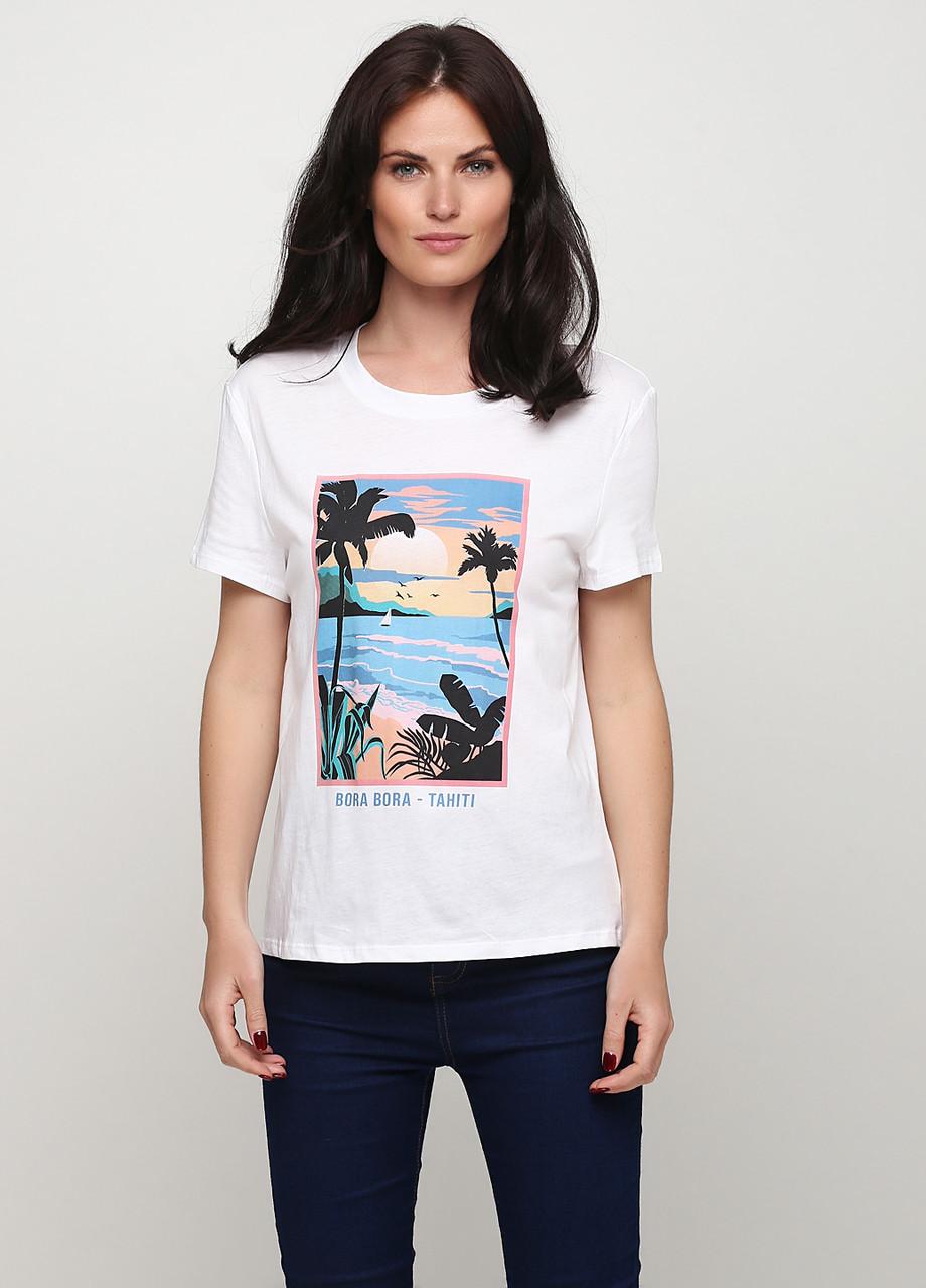 Стильная женская хлопковая футболка от C&A Clockhouse, Германия, размер М