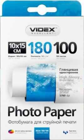Фотобумага А6 Videx HGA6 180/100 глянец
