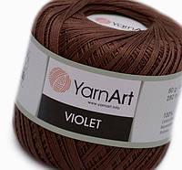 Пряжа Violet 50гр - 282м (0077 Коричневый) YarnArt