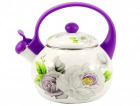 Емальований чайник Zauberg 2L Троянда 2.2л