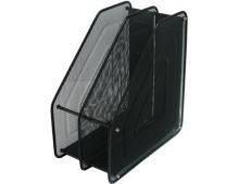 Лоток для бумаг вертикальный металлический 2 отделения 307-В черный