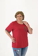 Футболка красного цвета с люрексовой тесьмой, фото 1