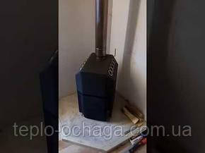 Печка на дровах ТЕПЛОДАР ТОП 140 стальная дверка, фото 2