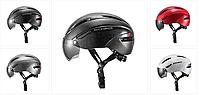 Шлем велосипедный Rockbros  274 г. 57-62 см L / XL с затемненными очками, фото 1