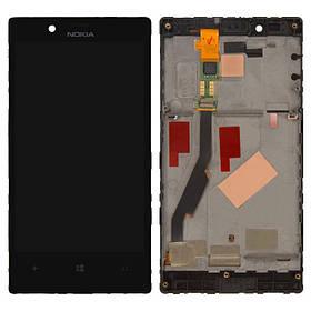 Дисплей (экран) для Microsoft (Nokia) 720 Lumia (RM-885) с сенсором (тачскрином) и рамкой черный Оригинал