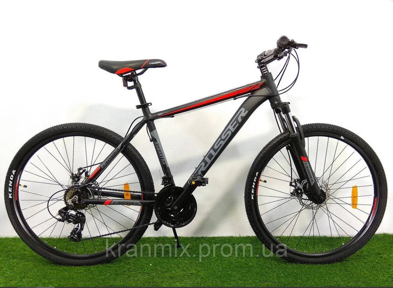 """Горный велосипед Crosser Pionner 29"""" рама 19"""" ЧЕРНЫЙ"""