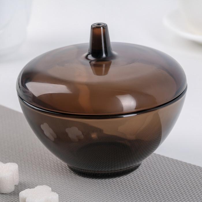 Сахарница стеклянная из коричневого стекла с крышкой 300 мл Luminarc Амбьянте эклипс (L5094)