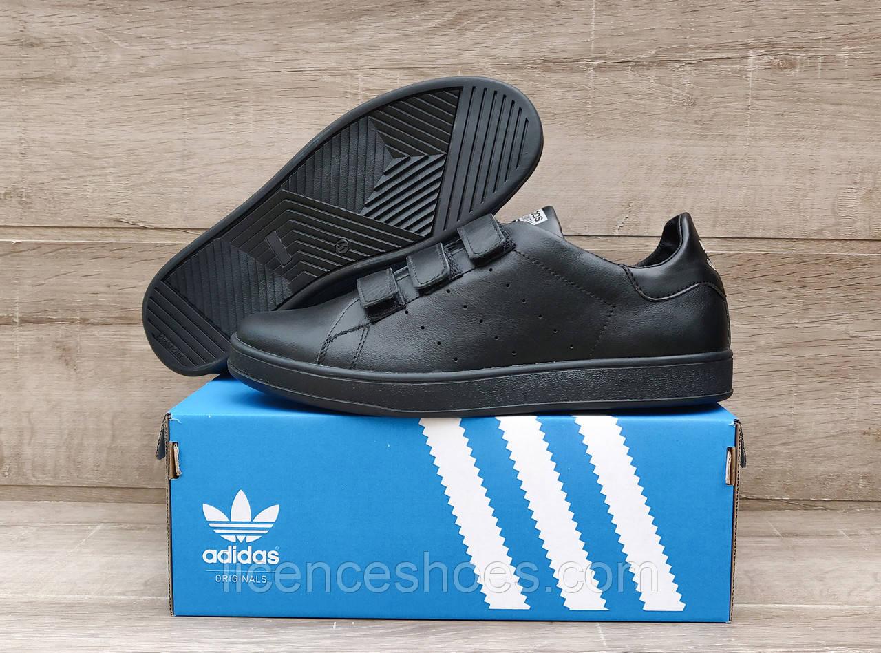 Чоловічі кросівки Adidas Stan Smith Total White Натуральна шкіра ЛИПУЧКА