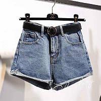 Женские шорты джинсовые голубые