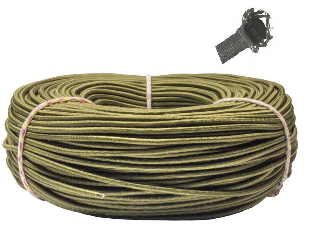 Эспандер эластичный шнур 8 мм цвет Хаки (Польша) для лодки фитнеса спорта тренировок , сняряжения