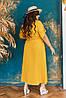 Длинное платье-рубашка из натурального льна с пряском, батал и супер батал большие размеры, фото 9