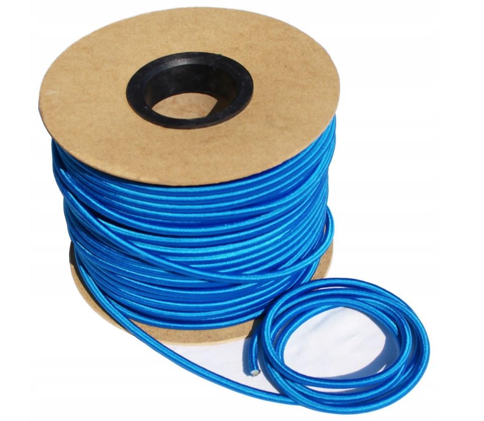 Эспандер эластичный шнур 8мм цвет-синий (Польша)  для баннера фитнеса, тренировок, спорта