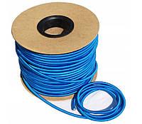 Эспандер эластичный шнур 8мм цвет-синий (Польша)  для баннера фитнеса, тренировок, спорта, фото 1