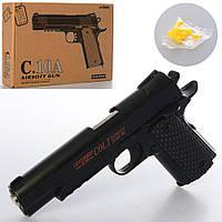 Пистолет металлический 22 см C10A на пульках