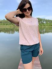 Стильный костюм летний шорты и блузка размеры  44-46,48-50,52-54, фото 2