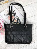 Черная женская кожаная сумка небольшая классическая деловая сумочка натуральная кожа