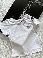 Белая  детская футболка Armani, фото 1