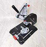 Болгарка с регулировкой оборотов Craft-Tec PXAG-225E 125/1200 + стойка для болгарки, фото 9