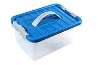 Ящик пластиковый с ручкой 8л Heidrun ClipBOX 34х23х16 см HDR-1632, фото 1