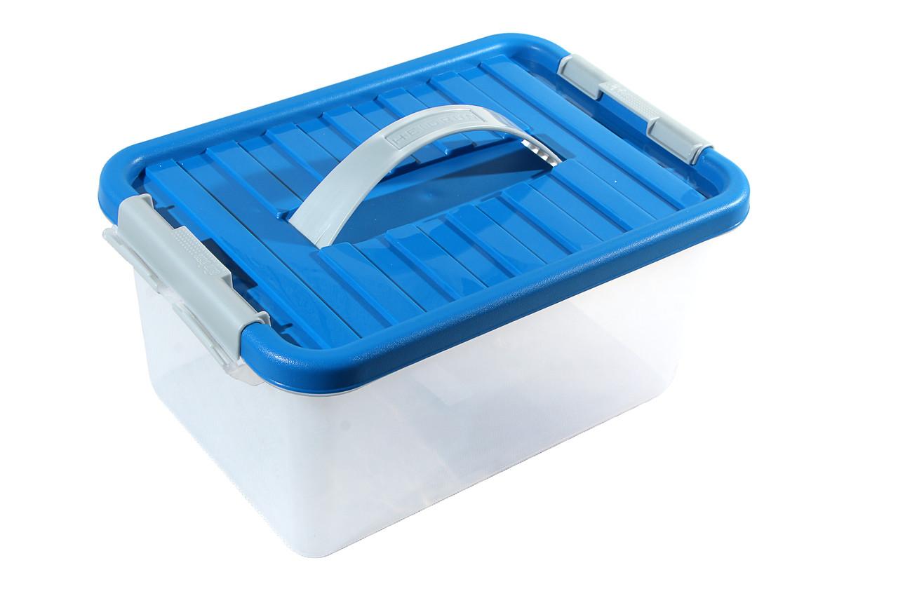 Ящик пластиковый с ручкой 8л Heidrun ClipBOX 34х23х16 см HDR-1632