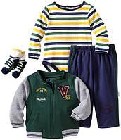 """Костюм спортивный для мальчика (боди, штанишки, кофточка, носки) """"Vitamins Baby"""". Размеры:18, 24 мес"""