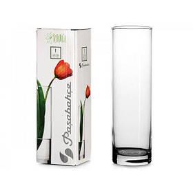 Ваза цилиндрическая стеклянная Pasabahce Флора цилиндр 260 мм (43767)