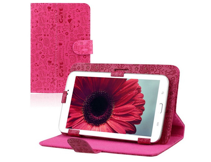 Универсальный чехол с рисунком на 7 дюймов розовый