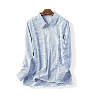 Рубашка Блузка женская в полоску со змейкой