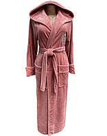 Бамбуковый халат женский длинный (натуральный), размер S, Nusa