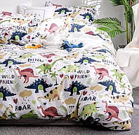 Двоспальне постільна білизна Голд - Динозаврики