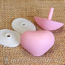 Нос для мягких игрушек 38х30 мм + крепление, св.розовый