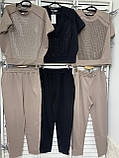 Яркий женский летний костюм со стразами большой размер ХИТ.  Женская одежда., фото 2