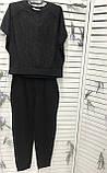Яркий женский летний костюм со стразами большой размер ХИТ.  Женская одежда., фото 5
