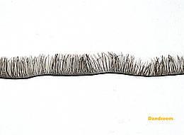 Реснички для кукол, игрушек, Черные, 8 мм, длина ленты 20 см